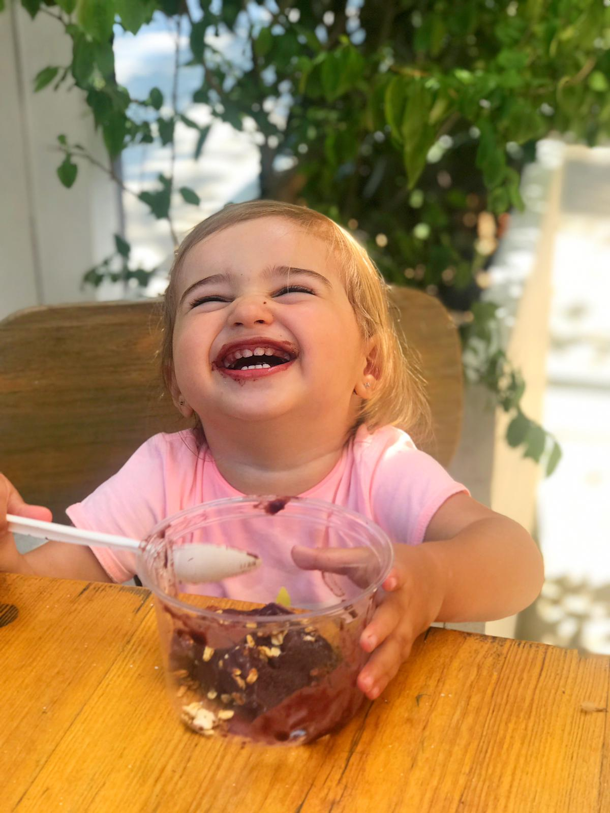"You will be surprised to see how happy your little one will be with an organic and sugar-free ""ice cream""."
